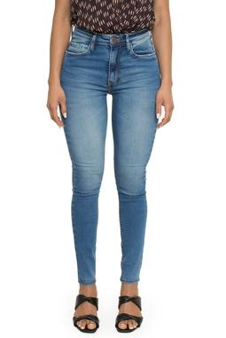 Calca Skinny High Basic Azul - ANM04691462