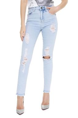Calça Skinny Jeans Claro Rasgos - DG15125