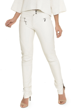 Calça Skinny Nervur Couro - O7COCL0300338