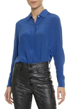 Camisa Azul Manga Longa - DG14949