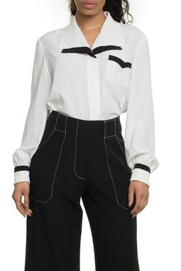 Camisa Branca Contraste - DG17820