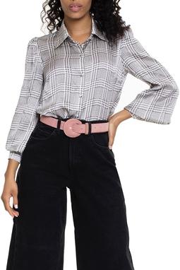 Camisa De Seda Estampada - DG15004