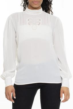 Camisa De Seda ML Branca - DG15578
