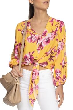 Camisa Floral Fundo Amarelo - DG15266