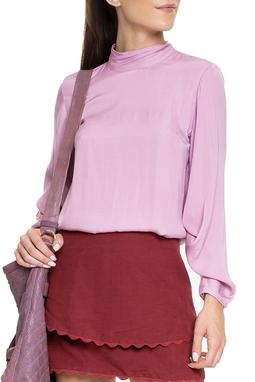 Camisa Gola Alta Rosa - DG15356