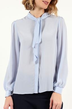 Camisa Laço Removivel Cupro Azul