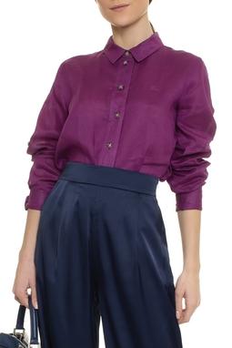 Camisa Linho Roxa - DG17035