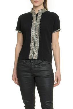 Camisa Manga Curta Bordado - DG17863