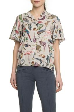 Camisa Manga Curta Estampa - Colcci