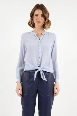 Camisa No Cupro Azul