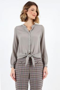 Camisa No Cupro Cinza