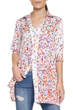 Camisa Seda Estampada - DG15616