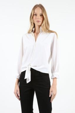 Camisa Seda Nó Dupla Branca