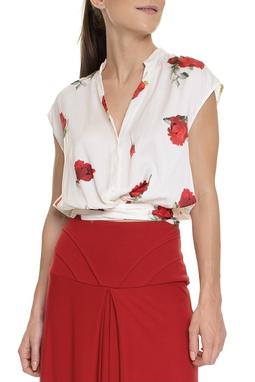 Camisa Sem Manga Estampa Floral - DG15251