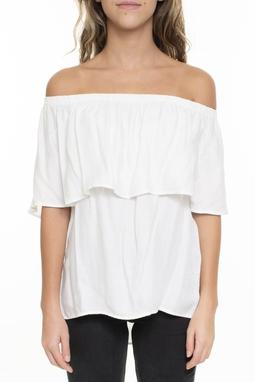 Camiseta Branca Ombro A Ombro - DG15745