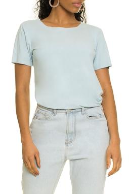 Camiseta Suede Lisa Azul - DG17289