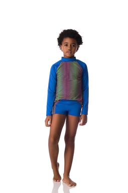 Camiseta Surf List Dots Royal Kids