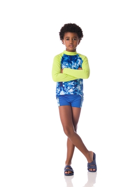 Camiseta Surf Tie Dye Royal Kids