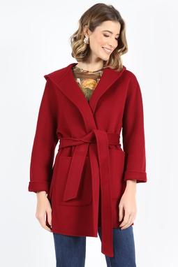 Casaco Lã Virgem Handmade Vermelho