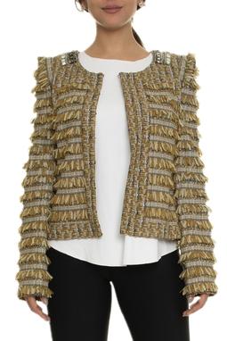 Casaco Tweed Bordado Com Franjas  - DG14908