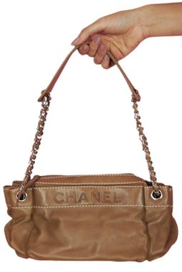 Chanel couro bege - BMD 9735