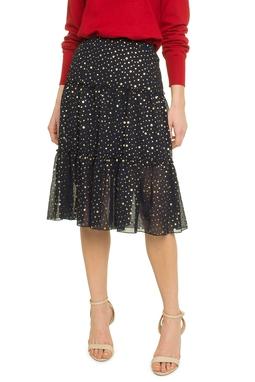 Chiffon Pois Ruffle Skirt - 49L1173