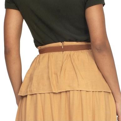 Cinto Marrom Fivela Dupla Dourada - DG15404 Curadoria Dress & Go
