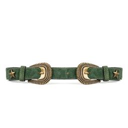 Cinto Verde Fivela Dupla - DG15400