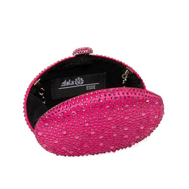 Clutch Oval Brilho Pink Isla