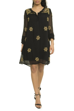 Constallation Embroidery Dress - 44N1026