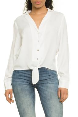 Crepe Shirt Bow Ml - 51E1627