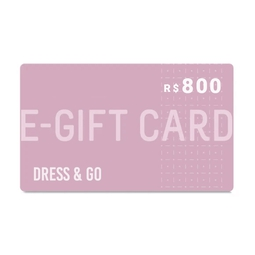 E-Gift Card Dress & Go - R$800