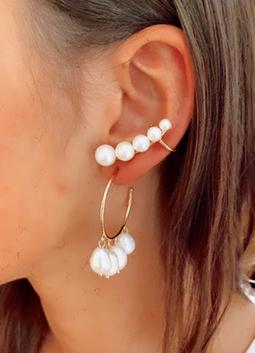Brinco Ear Cuff Pearls