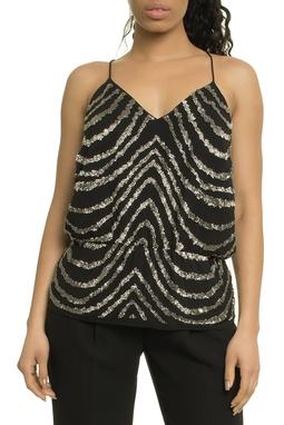 Georgette Zebra Embroidery Alcinha - 47E1352