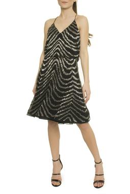 Georgette Zebra Embroidery Alcinha - 47N1526