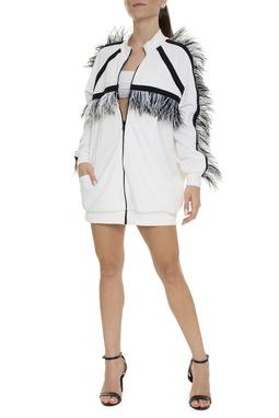 Jaqueta Branca Penas - DG15607