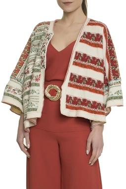 Kimono Lã Floral - DG17815