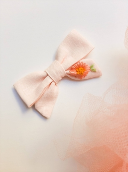 Laço Amélie rosa claro Jardim Secreto