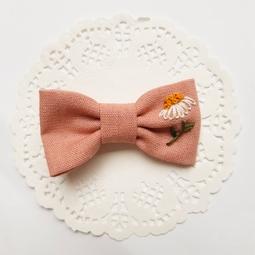 Laço Clarice em linho rosa antigo Jardim Secreto