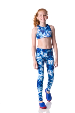 Legging Tie Dye Royal Kids