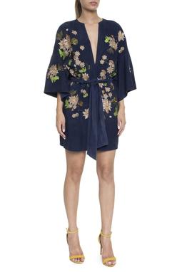 Macacão Curto Suede Kimono - DG16346