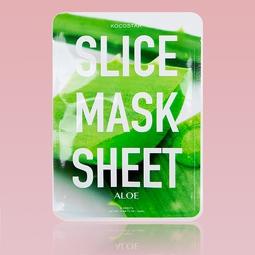 Máscara Kocostar Facial de Aloe Vera em fatias