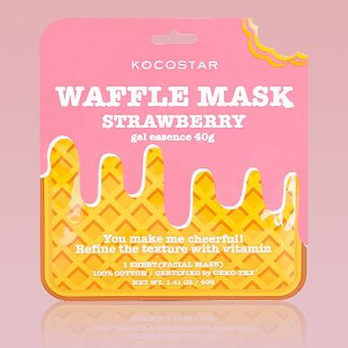 Máscara Kocostar Waffle de Morango Blinklab
