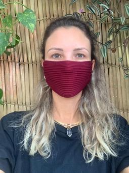 Máscara Tricot Marsala
