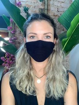 Máscara Tricot Preto