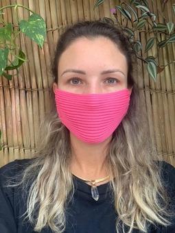 Máscara Tricot Rosa