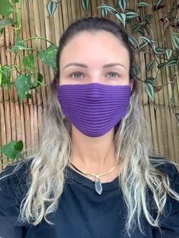 Máscara Tricot Roxo