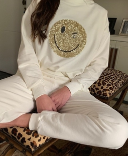 Moletom Branco Golden Smile