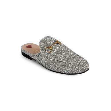 Slipper Princetown Glitter Prata Gucci