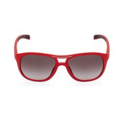 Óculos Escuro Bordas Arredondadas Vermelho